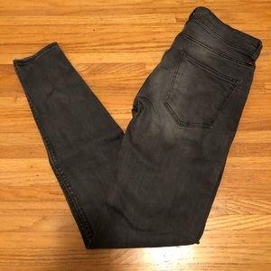 Zara grey gray mid-rise skinny jeans 34/xs/2